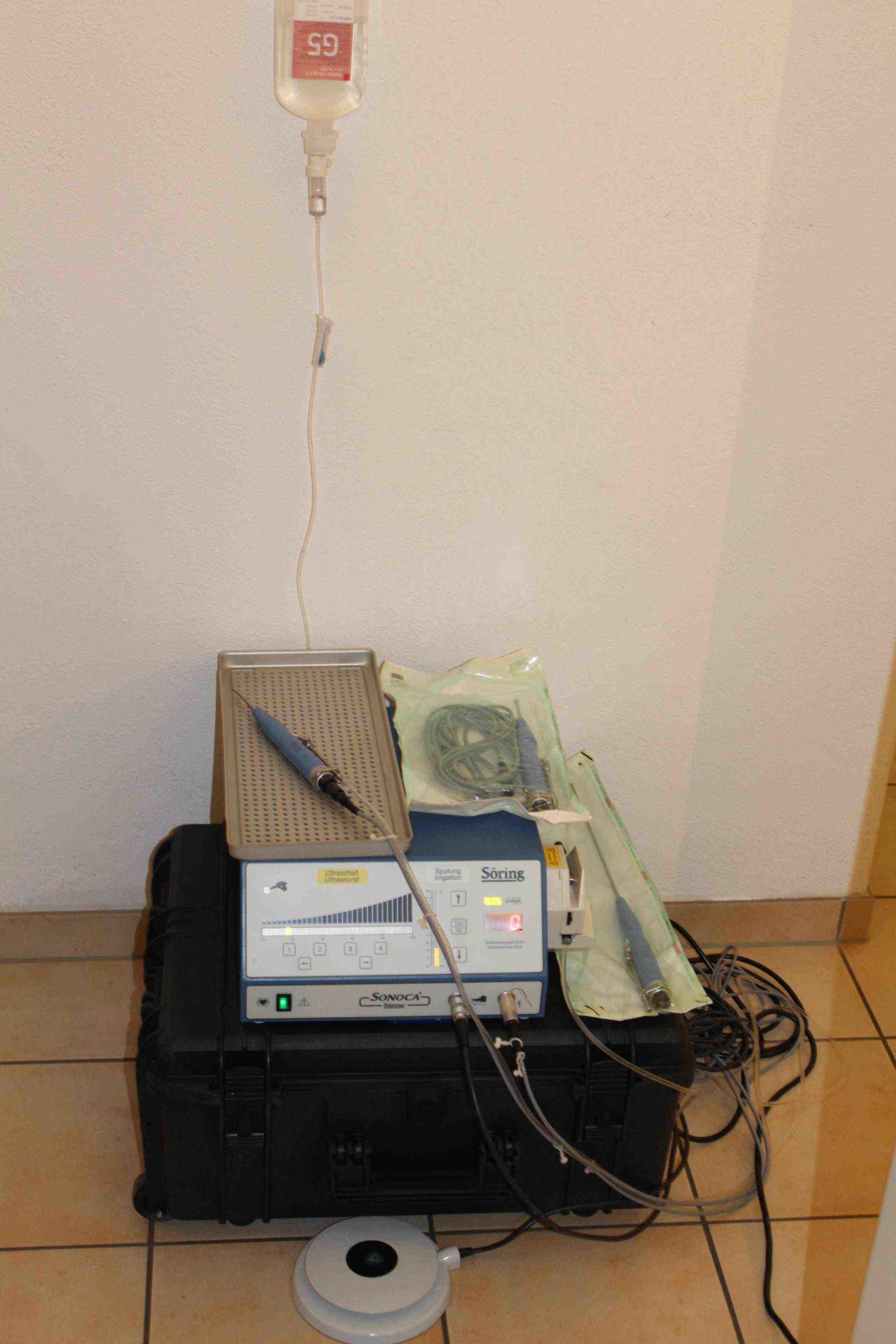 Ultraschall assoziiertes Wundebridement Tierarzt